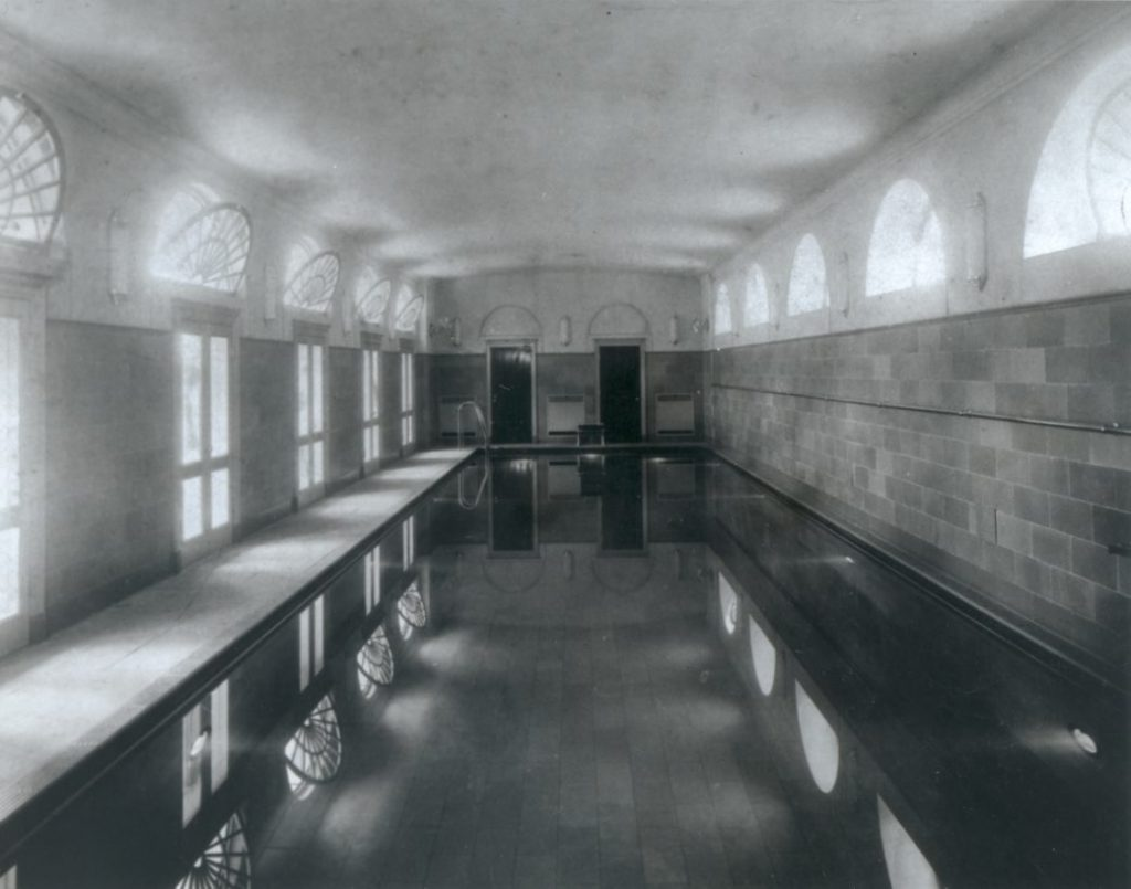 FDR's swimming pool (credit:  National Archives).