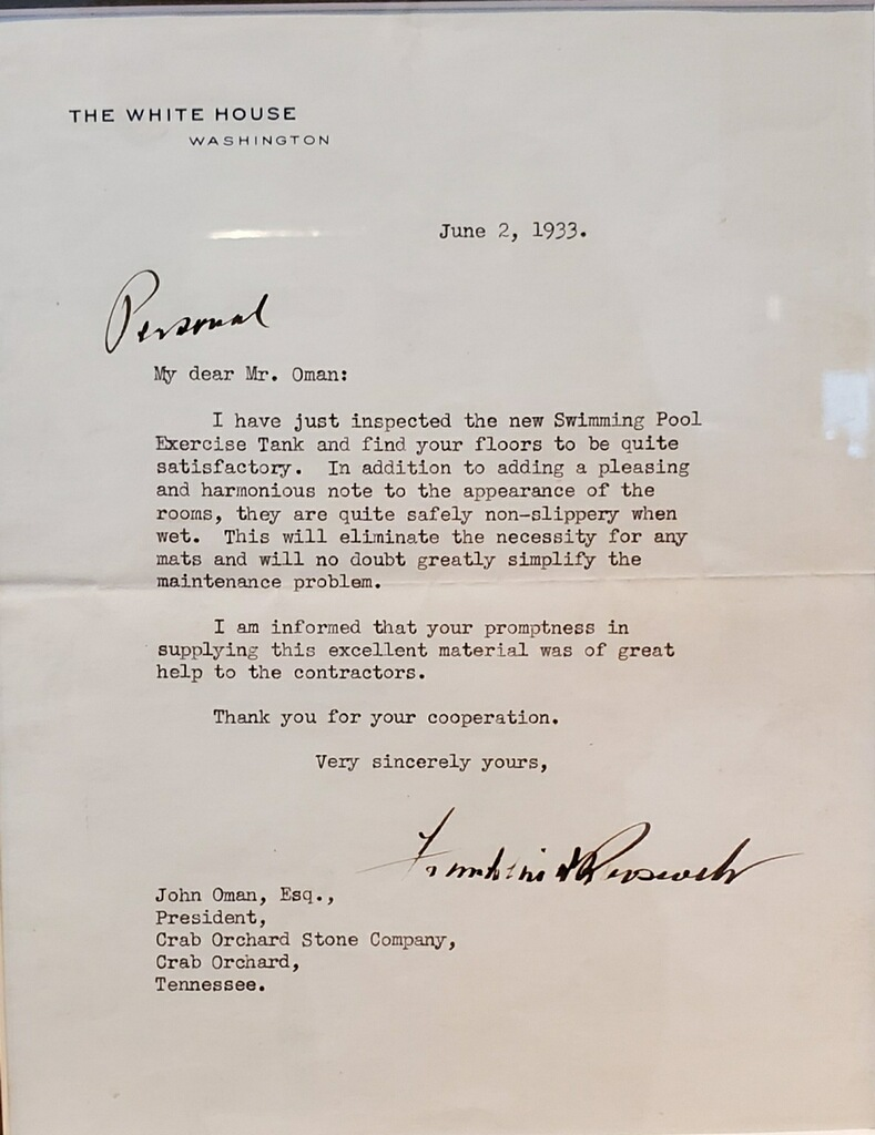 FDR's Thank You Letter to John Oman