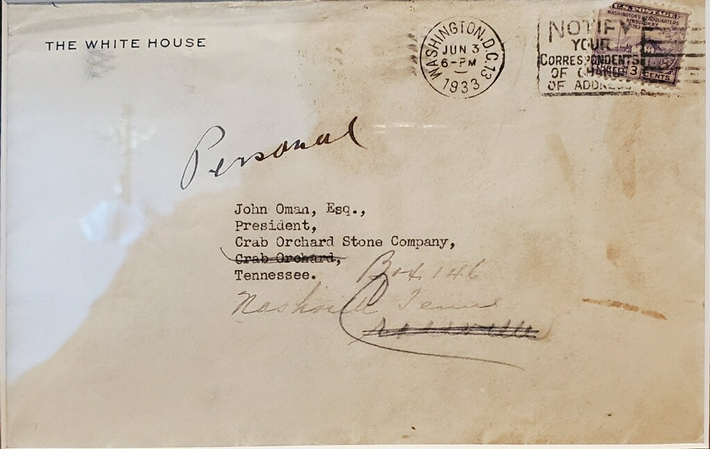 White House Envelope Addressed to John Oman.
