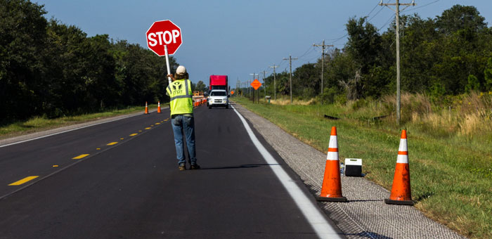 Slow down in construction zones